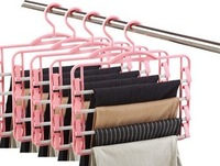 CHEER! 50PCS/LOT Fedex Free Shipping multi-layer pants rack pants clip slip-resistant hanger magic hanger drying rack