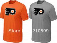 Philadelphia Flyers t shirt hockey shirt sport brand t-shirt cheap orange grey te cotton short sleeve round collar tshirt jersey