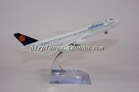 16cm Airplane Plane Model Germany Lufthansa Boeing B747 400 Airline Aircraft Metal Model Diecasts Souvenir Toy Vehicles gift
