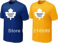 Toronto Man t shirt hockey shirt sport brand t-shirt cheap blue yellow cotton short sleeve te round collar tshirt jersey