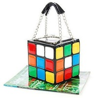 Free Shipping 1pcs/Lot Women's Hot Cute Magic Cube Bag Handbag Purse Korean Fashion Handbags