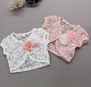 New hot wholesale children's lace shawl, coat jacket 2 color 5 PCS/lot free shipping