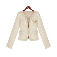 2013 spring woolen clothing short jacket female fashion exquisite little slim short coat design