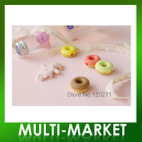 Free shipping/Wholesale doughnuts earphone bobbin cable winder organizer tidy mp3 cell phone