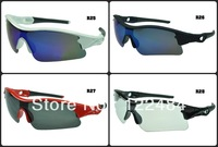100% guarantee  Brand Outdoor Sport Cycling New Radar Sunglass Men's and Women's Sunglasses Eyewear 28colours free shipping