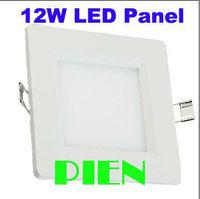 12W LED Panel Ceiling Light Bright 110V 220V 12V Square down lamp 2835 Recessed focos Fixture Free Shipping 2pcs/lot