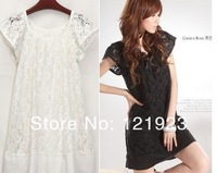 Newest Sweet Fashion Cozy Lace Short Sleeve Skirt/Dress    the lowest price on aliexpress  QC0048