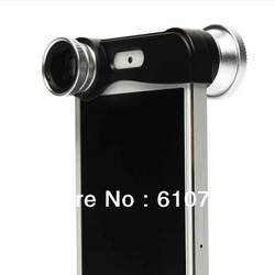 30 pcs/lot,HOT SELLING Fish eye Wide-Angle Macro lens 3 in 1 lens for iPhone5 iPhone 5,Valentine's gift(China (Mainland))