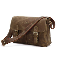 2013 fashion Crazy horse leather fashion male fashion genuine leather bag one shoulder , dual 6002 cross-body