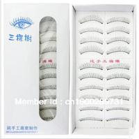 Free shipping/ 10 Pairs /Handmade Fake False Eyelash Natural Look Transparent
