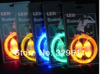 High Quality Fashion LED Flashing  3th Shoelaces,100pcs/lot(50 pairs) Fiber Optic LED Shoe laces+DHL &Fedex free shipping