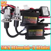 Hid xenon conversion kit H4 12000K 35W HID AUTO CAR Xenon Headlights HID xenon ballast