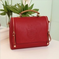 2013 hot sale  handbags fashion design double zipper PU leather bags shoulder bags wholesale messenger bags free shipping