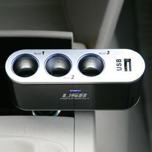 Car cigarette lighter power distribution unit belt usb doesthis three smoke distributor socket