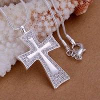 P240 fashion jewelry chains necklace 925 silver pendant The insets Quartet cross
