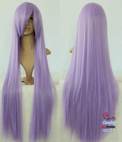 80cm Heat Resistant light purple long straight Cosplay Wig A006