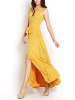 Bach ol exquisite V-neck expansion bottom polychromatic ultra long elegant dress one-piece dress