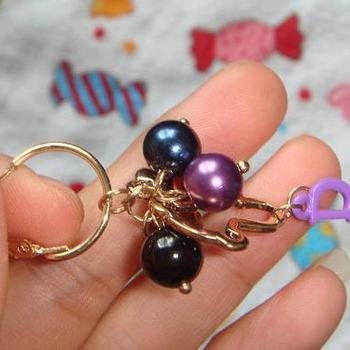 Accessories cutout beads cute bear small wind beaded hoop earrings earring accessories