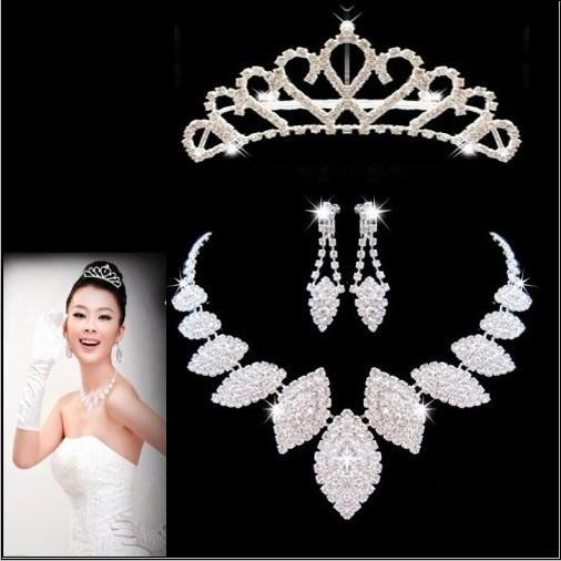 The bride accessories piece set wedding dress necklace bride chain sets set marriage accessories jewelry piece