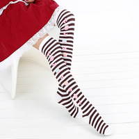 free shipping Lolita over-the-knee stripe stockings gaotong socks stovepipe socks female