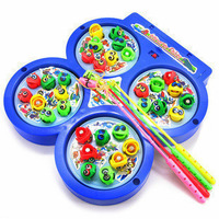 Magnetic plate fishing disk child toy electric fishing 0.3 rotation
