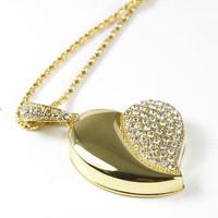 Best selling Jewelry Heart shape USB Drive Flash 4GB 8GB 16GB 32GB 64GB Free Shipping