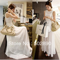 free shipping 2013 new women Chiffon long dress medium-long tank maxi dress vintage classic lace elegant one-piece dress