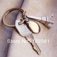 """Destination Wedding"" Eiffel Tower Keyring in Velvet Gift Bag for Wedding Party Stuff Favors Supplies Free Shipping HOT on Sale"