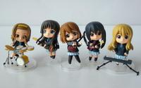 Japan Anime K-On Mio Akiyama Mio & Hirasawa Yui 6cm PVC Mini Figure Set of 5pcs Cute Loose