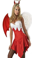 Red And White Sexy Angel Costume free shipping and 30 days returnable policy 243