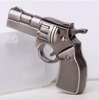 2014 HOT 4GB 8GB 16GB 32GB metal gun handgun pistol shape USB 2.0 flash memory Pen drive