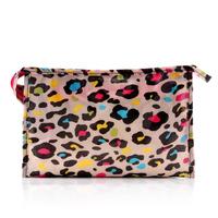 Fog flower classic color block cosmetic bag waterproof wash bag cosmetic bag storage bag spring and summer