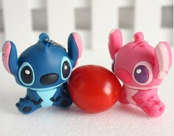 2retail genuine 2G/4G/8G/16G/32G cartoon flash drive cute stitch pen drive silicone usb flash drive Free shipping F-H010