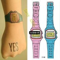 Hot Sale!!!!! New Arrival Watch Body Art Stickers Waterproof Tattoo Sticker Sexy Lovely Tatto (10pcs/lot)