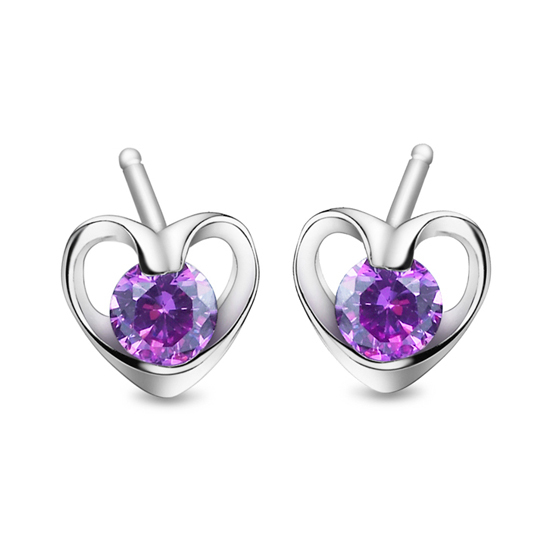 stud earring female 925 pure silver stud earring pure silver platinum r0597 discoloration(China (Mainland))