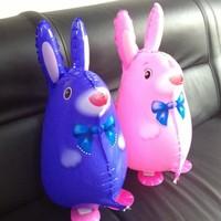 2013 New Arrived!  Rabbit Walking Pet Balloon, Pink&Blue   90pcs/lot  CE&EN71 ARROVED!