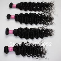 DHL free mix bundles 4 pcs lot 14 16 18 20 22 24 26 28 30 deep wave virgin indian hair extension natural color human hair weft