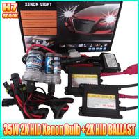 H7 8000k hid headlights 12v bulbs 35w HID Eletronic Ballast (H7 8000K car headlight Set )