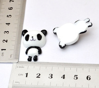 wholesale 10pcs 32MM White cute Panda flat back doll resin accessory DIY jewelry supplies for cell phone beauty[JCZL DIY Shop]