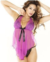2013 new fine sexy lingerie babydoll cute nighty  transparent underwear women sexy  for fantasy lady  bedroom nightgowns dress