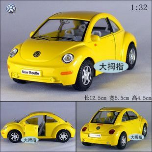 Soft world kinsmart vw beetle alloy car model toy