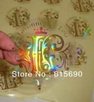 wholesale free shipping  customize pvc transparent stickers ,Anti-fake Security Hologram,Strong Laser Effect Holographic Sticker