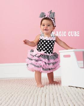 Hotsale summer Baby dress infant tutu girl dress lace pettiskirts cake dress no headband free shipping