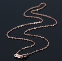 High Quality K14 Single Rose Gold Plated 316L Stainless Steel Chain Necklace