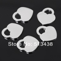 PJ09  20pcs 17*15mm heart small pendant charms buffing Stainless steel accessories.DIY Jewelry Never Lose color