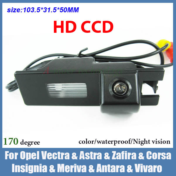 Free shipping CCD Car backup camera for Opel Vectra Astra Zafira Corsa Insignia Meriva antara vivaro night vision parking camera(China (Mainland))
