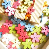 100pcs flower wool button handmade diy patchwork accessories log measurement small buttons small button