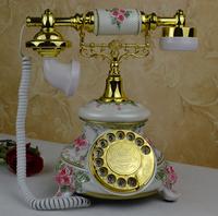 2014 Rushed Telefone Antigo Telefone Vintage Old Fashioned Rotary Dial Telephone Classic Phone Vintage Antique Fashion Classical