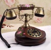 Rustic telephone antique telephone pure solid wood telephone fashion phone