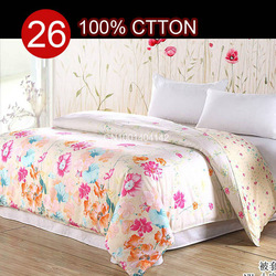 Free shipping,100% cotton new design 15% Off Twin Full Queen King size #9411 pink silver printed duvet cover bedclothes bedding(China (Mainland))